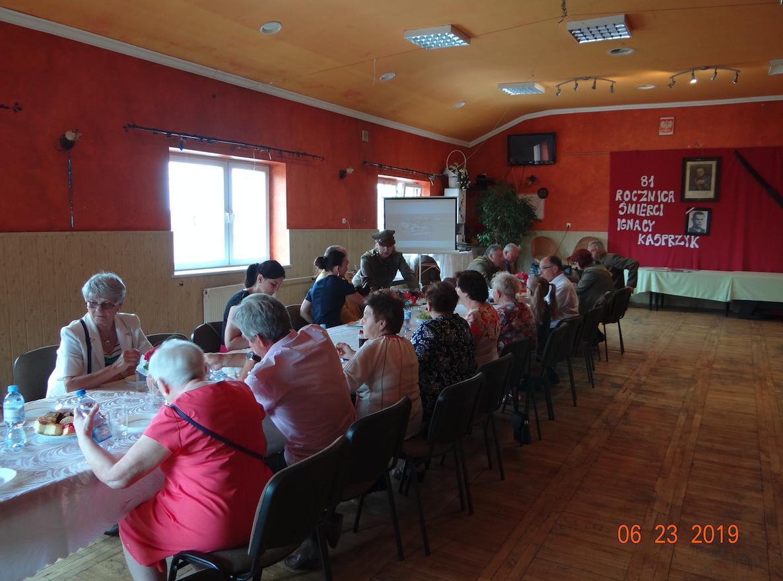 Spotkanie w Domu Kultury. Płoki 2019 rok. Zdjęcie Karol Placha Hetman