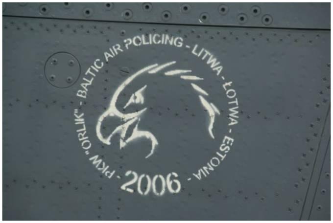 Godło PKW Orlik na kadłubie myśliwca MiG-29