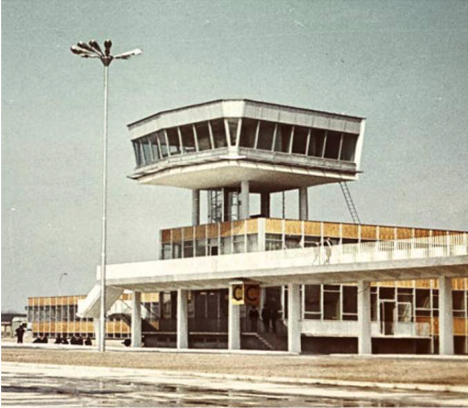 The tower at Okęcie. 1970 year. Photo of LAC