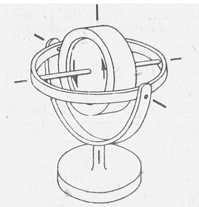 Najprostszy żyroskop o trzech stopniach swobody