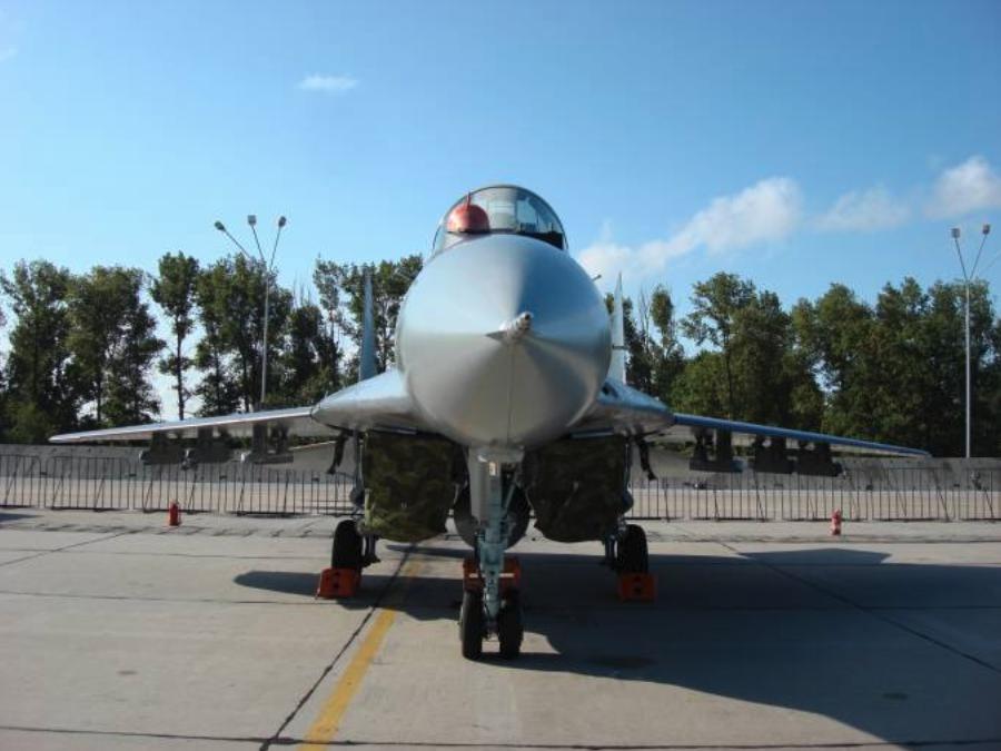 MiG-29 nb 115 in Mińsk Mazowiecki. 2008 year. Photo by Karol Placha Hetman