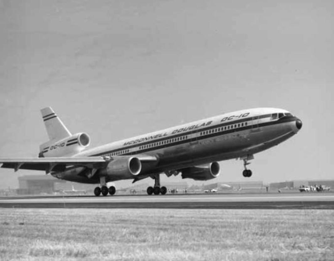 McDonnell Douglas DC-10. Prototyp. 1970 rok. Zdjęcie McDonnell Douglas