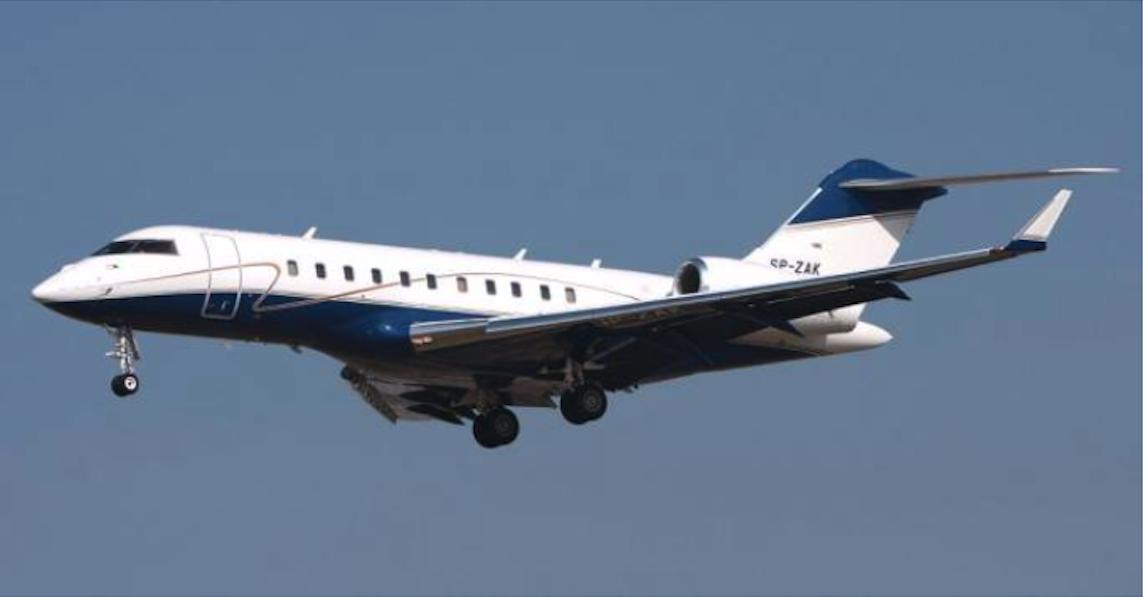 Bombardier Global 5000 rejestracja SP-ZAK. 2009 rok. zdjęcie LAC