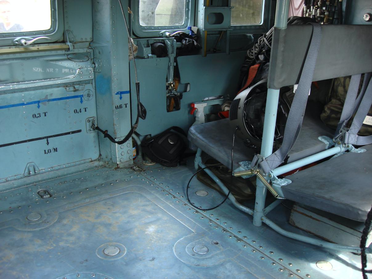Mil Mi-24. Fragment Ładowni. 2008 rok. Zdjęcie Karol Placha Hetman