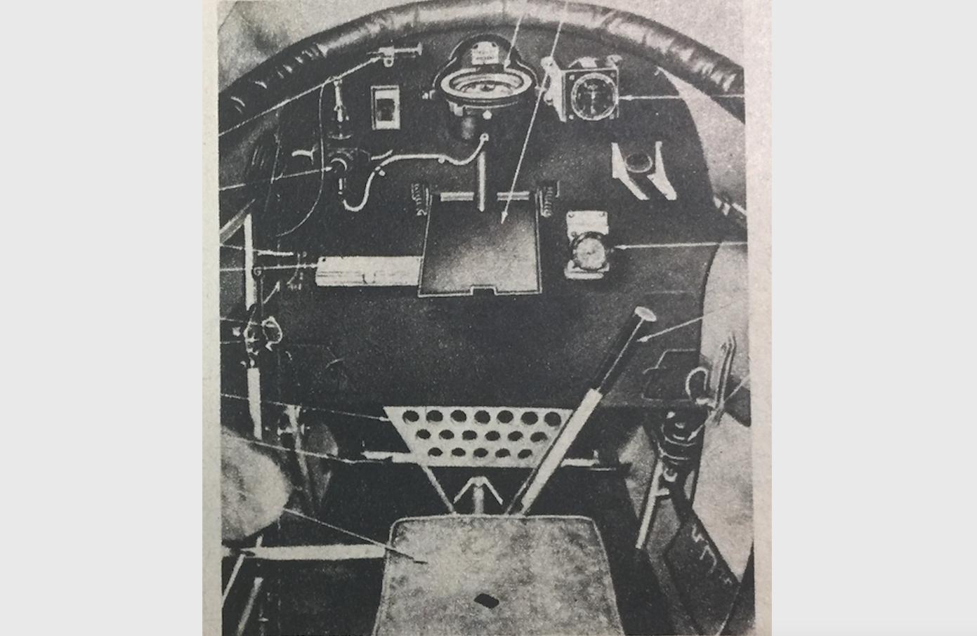 RWD-14, LWS Czapla. Miejsce obserwatora. 1938 rok. Zdjęcie z instrukcji obsługi