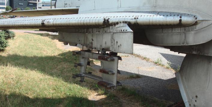 Su-7 B with a catch designed for 7 unguided missiles. Czyżyny 2008. Photo by Karol Placha Hetman