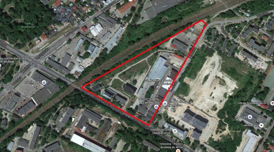 Miejsce byłej fabryki w Lublinie. 2016 rok. Zdjęcie Karol Placha Hetman