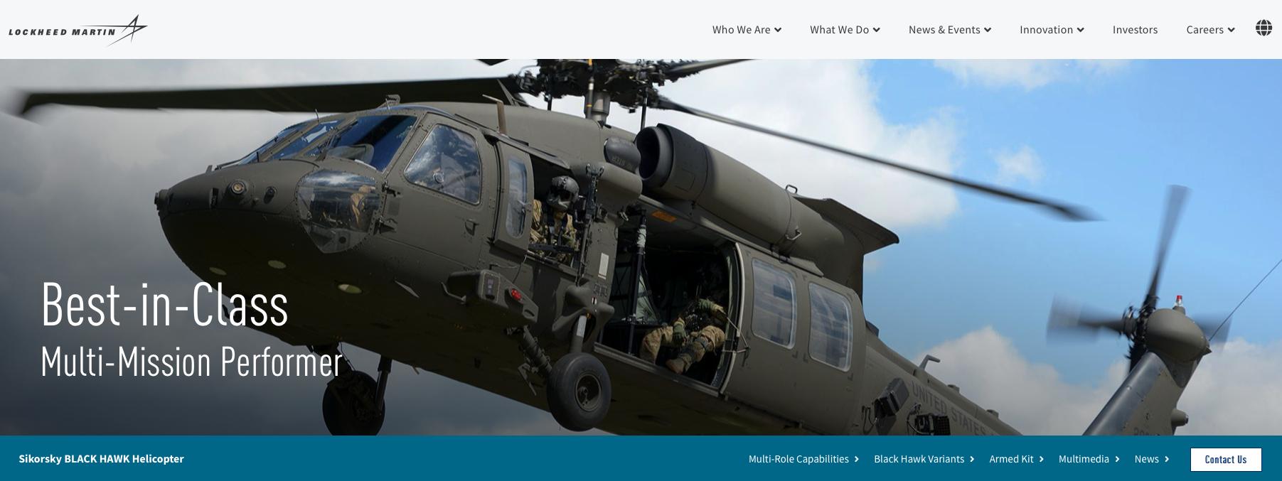 Black Hawk. 2019. Photo by Lockheed Martin