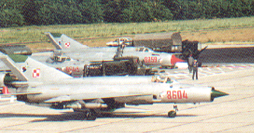 First imported to Poland in 1980. MiG-21 bis nb 8604. Photo of LAC