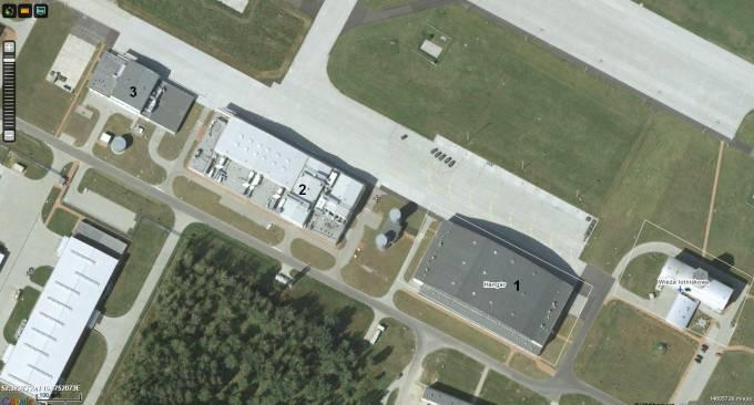 Kompleks hangarów. 2011r.