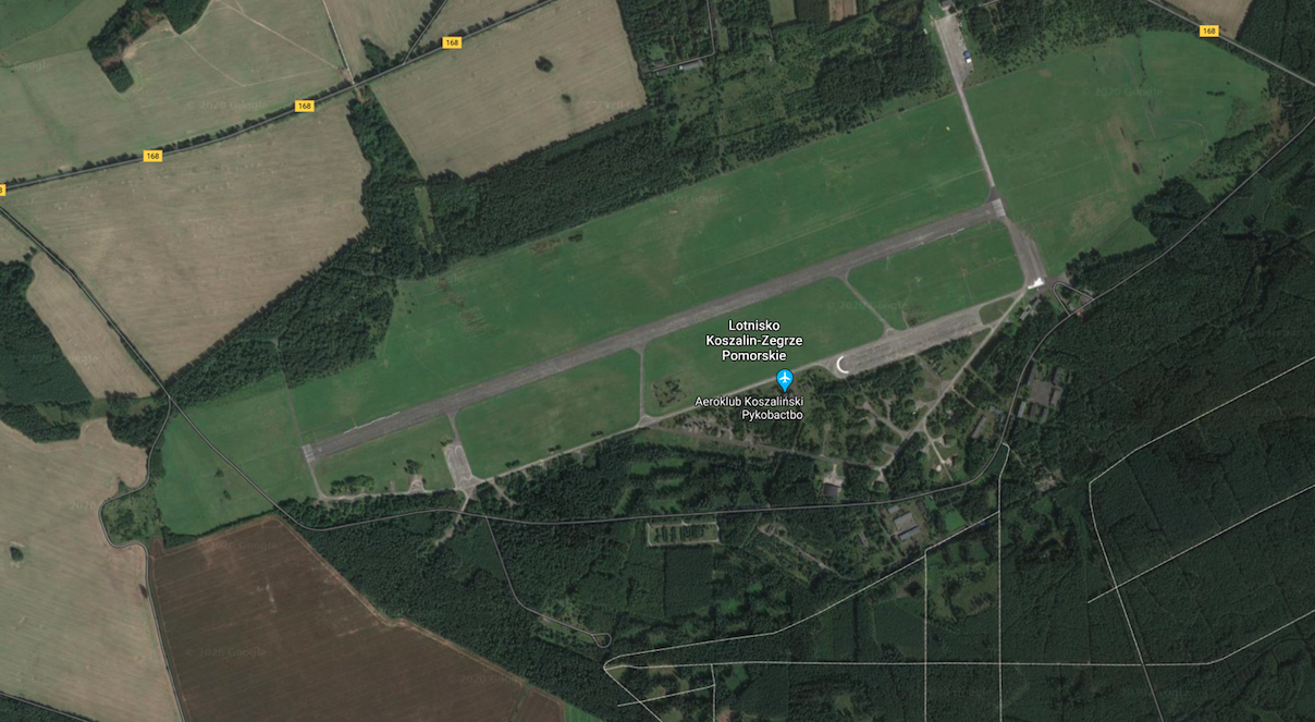 Lotnisko Zegrze Pomorskie. 2013 rok. Zdjęcie google