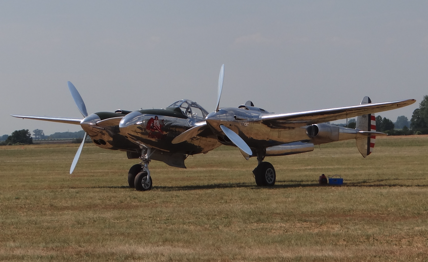 Lockheed P-38 Lightning. 2021 year. Photo by Karol Placha Hetman