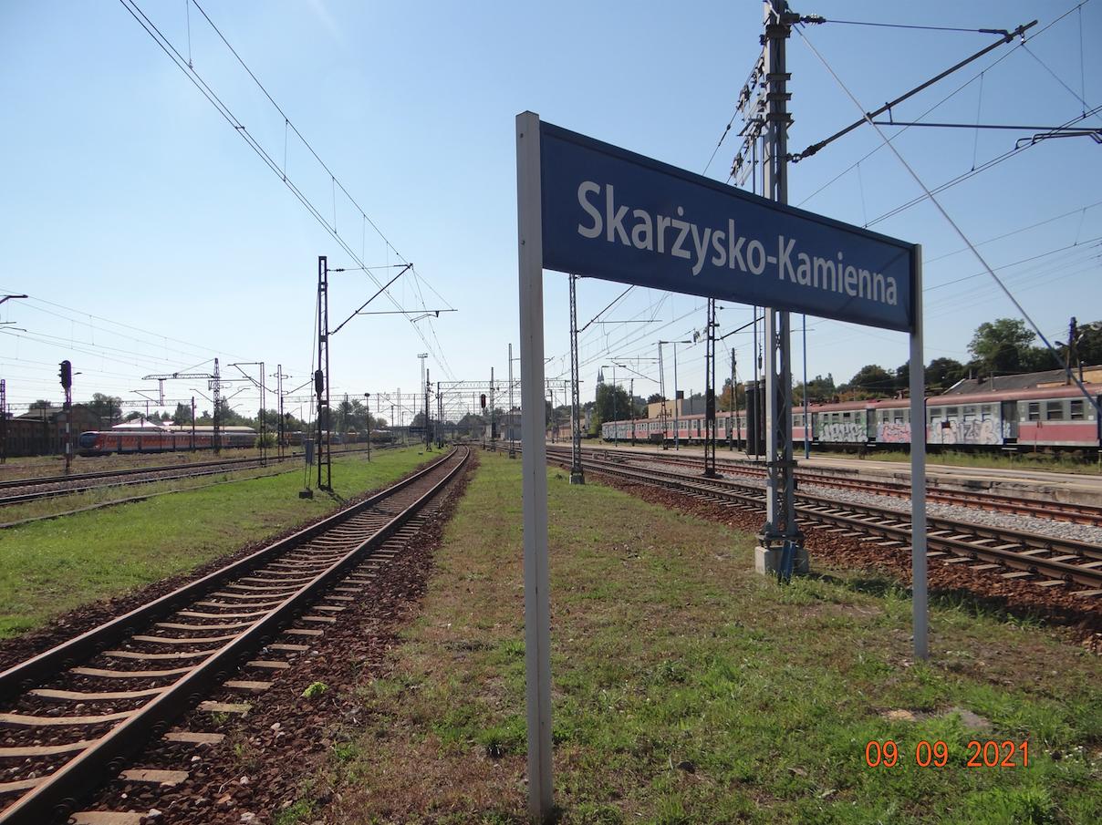 Skarżysko Kamienna. Widok w kierunku Kielc. 2021 rok. Zdjęcie Karol Placha Hetman
