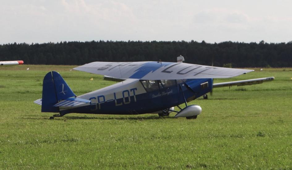 Latający samolot RWD-5 R (replika). 2012 rok. Zdjęcie Karol Placha Hetman
