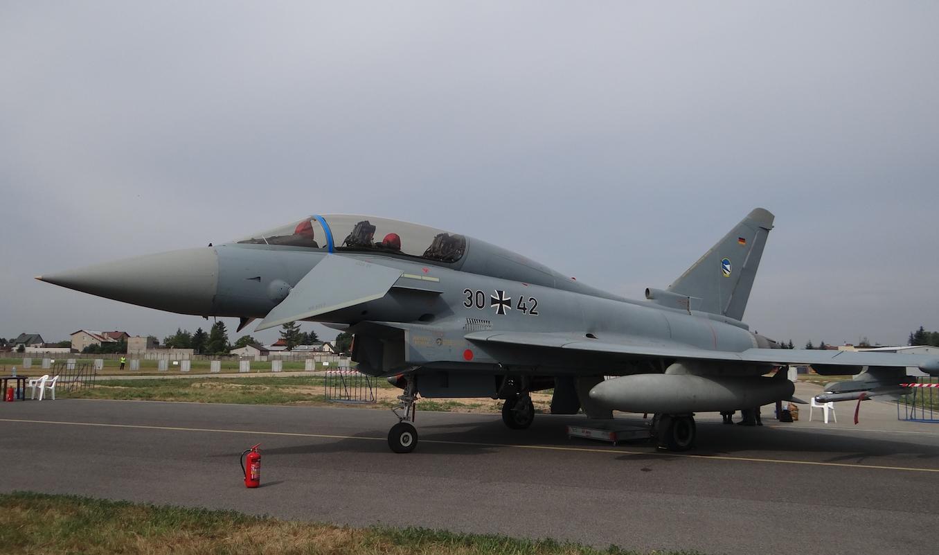 Eurofighter Typhoon nb 30-42. Two-seater. Germany. 2015 year. Photo by Karol Placha Hetman