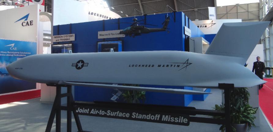 Model of the AGM-154 JASSM missile. 2014 year. Photo by Karol Placha Hetman