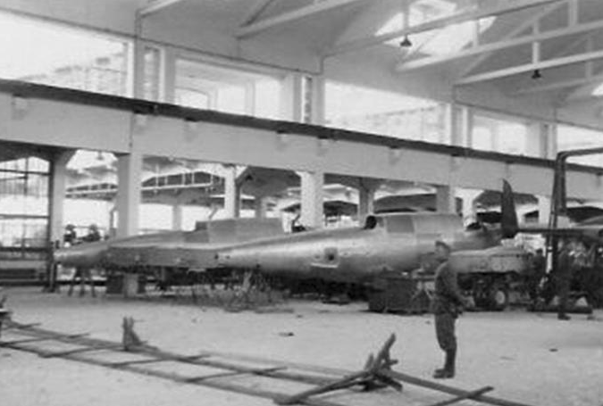 Germany in Mielec. Visible fuselage PZL-37 Łoś. 1939. Photo of LAC