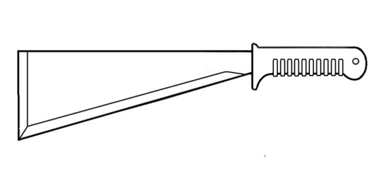 Nóż – maczeta z zestawu NAZ-7M. Zdjęcie Marek Kaiper