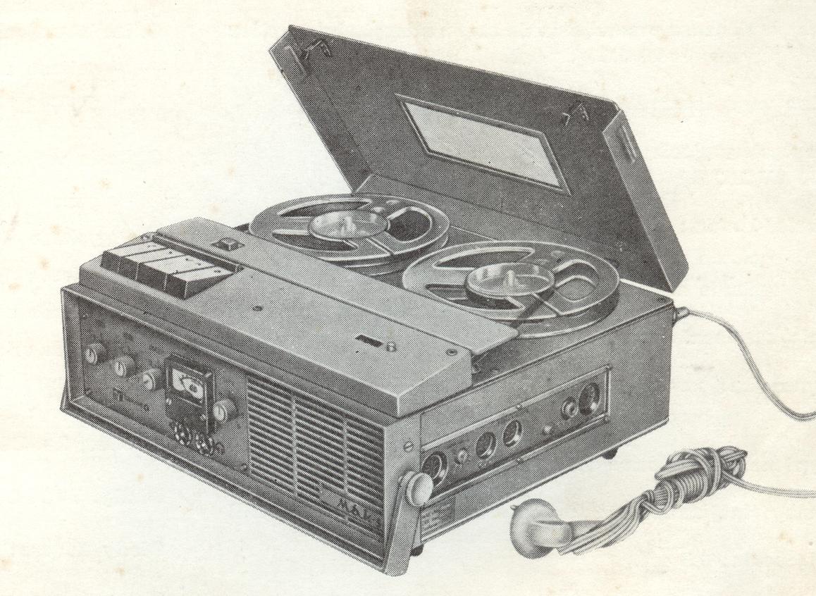 Magnetofon MAK-S. Zdjęcie z instrukcji.