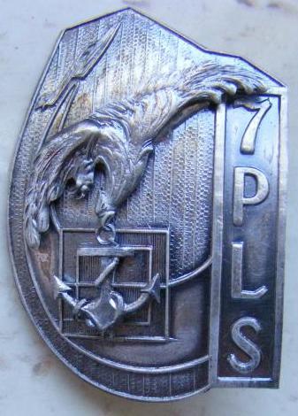 Odznaka ( Godło ) 7 Pułku Lotnictwa Specjalnego - Marynarki Wojennej.