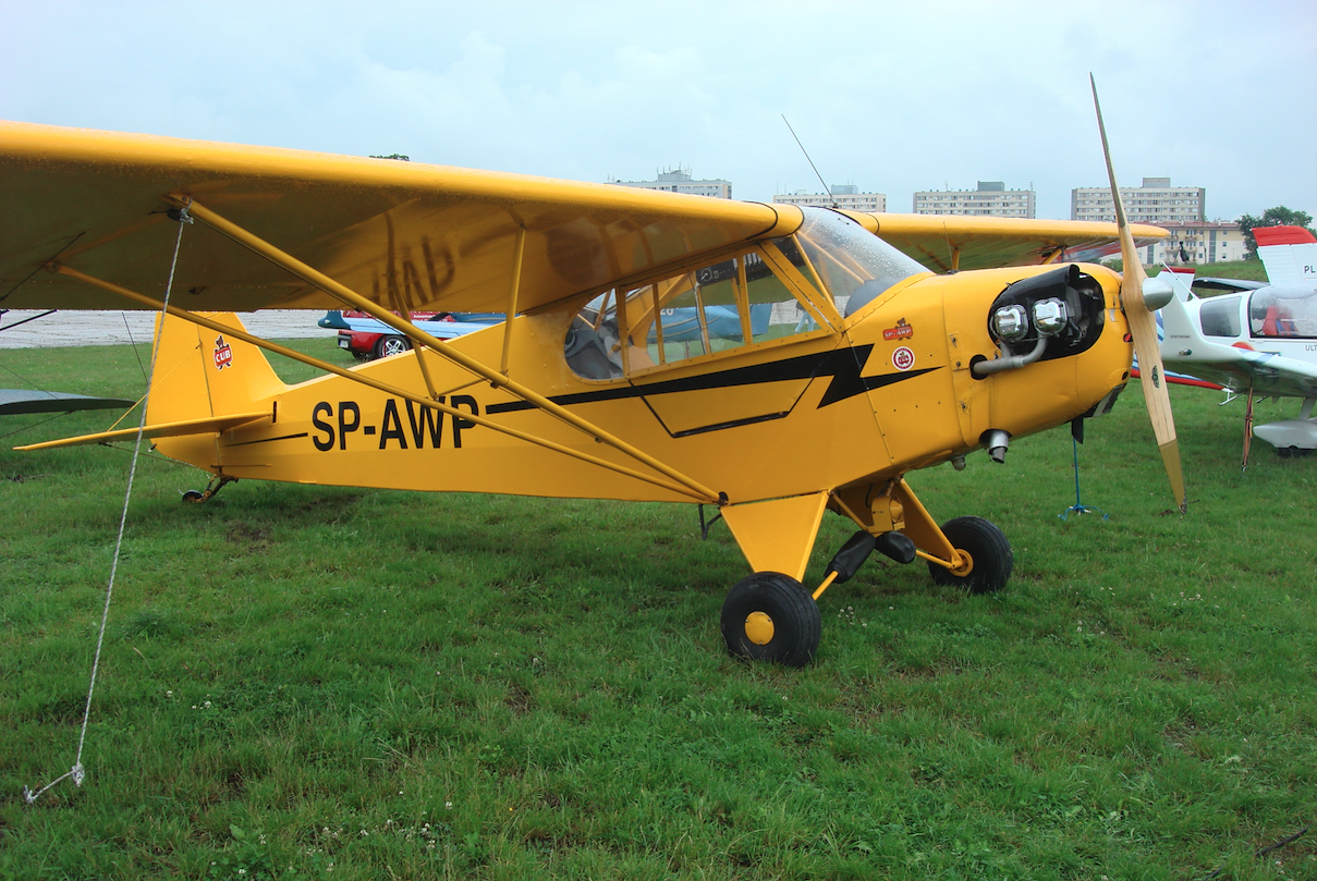 Piper J-3C-65 Cub SP-AWP. 2009 rok. Zdjęcie Karol Placha Hetman