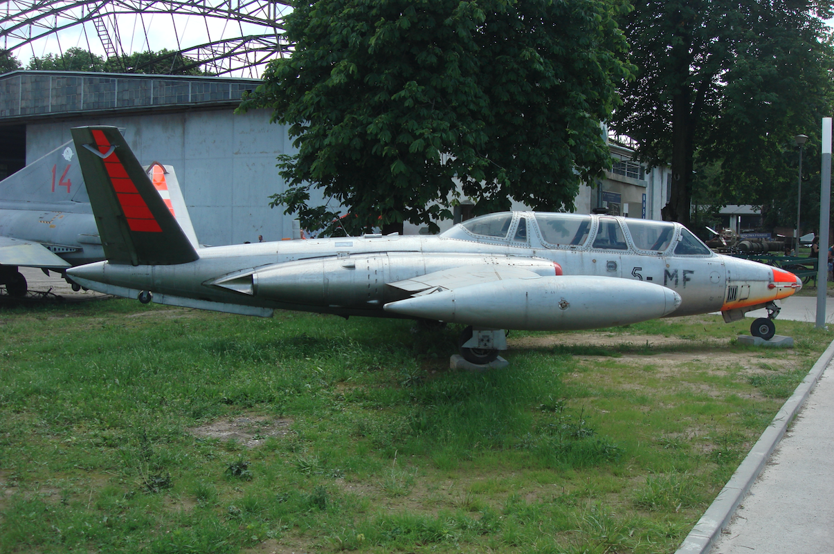 Aerospatiale CM.170 Magister nb 5-MF nr 458. 2010 year. Photo by Karol Placha Hetman
