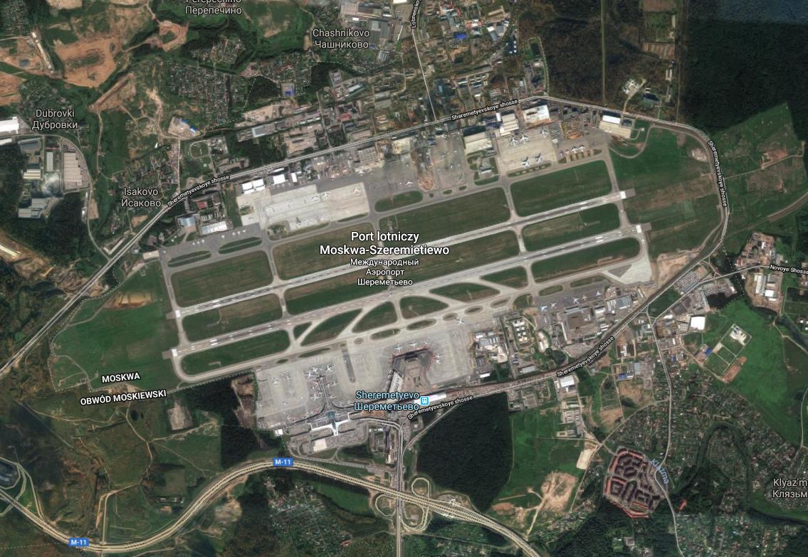 Lotnisko Szeremietiewo. 2017 rok. Zdjęcie Google
