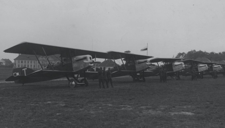 Potez XV na lotnisku w Warszawie, Mokotów. 1927 rok. Zdjęcie LAC