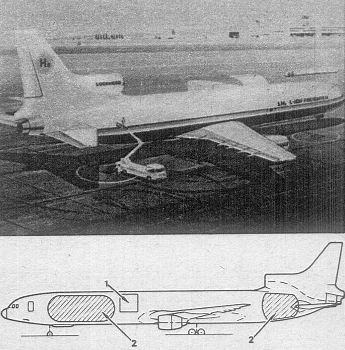 Doświadczalny samolot LH2 L-1011. 1980 rok. Zdjęcie Lockheed