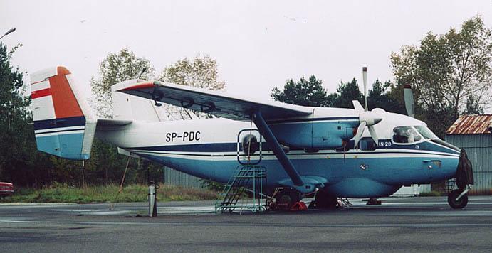 M-28 ( An-28 nb AJ 008-10 ) B1R Bryza-1 R nr AJGP 01-01 rejestracja SP-PDC. Prototyp patrolowy. Mielec. 1995r.