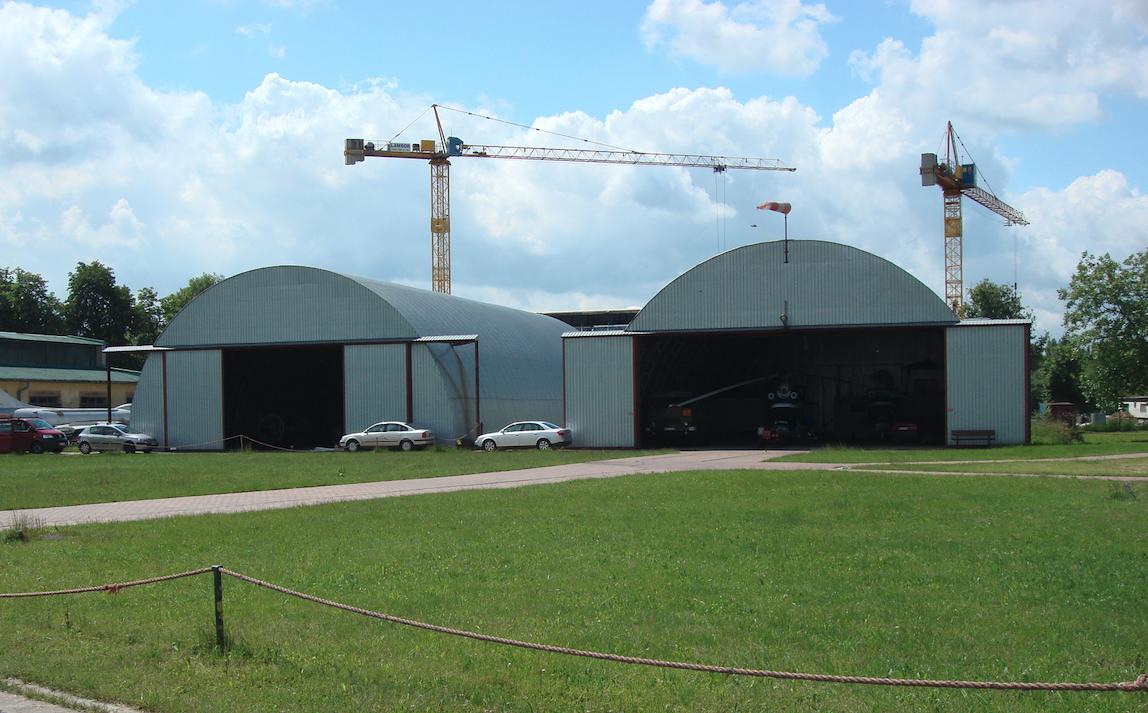 Hangars of the Polish Aviation Museum, tin cans. Czyżyny 2009. Photo by Karol Placha Hetman
