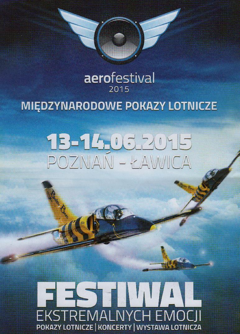 Plakat reklamowy Aerofestival 2015