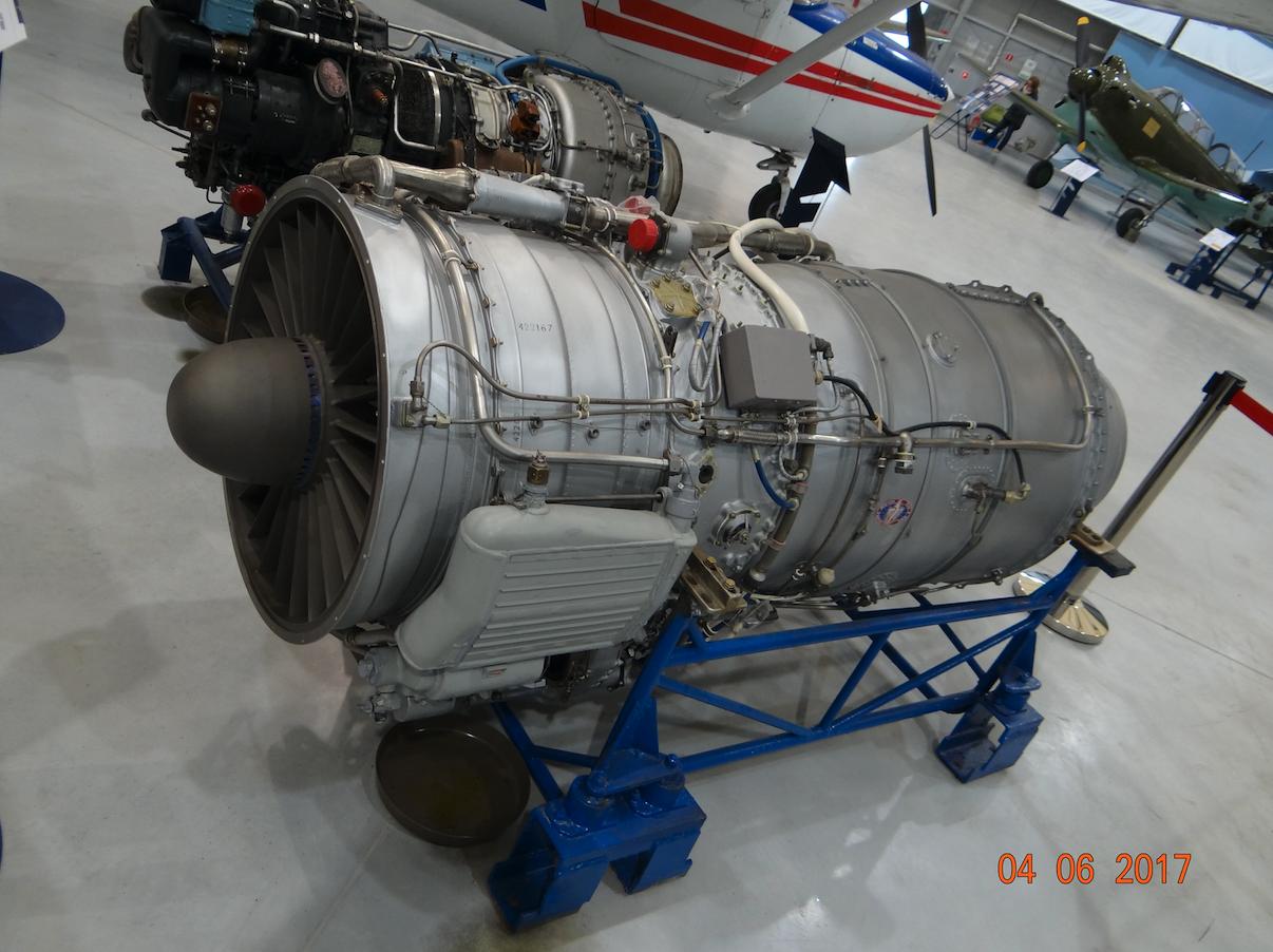 Silnik AI-25 samolotu Jak-40. 2017 rok. Zdjęcie Karol Placha Hetman