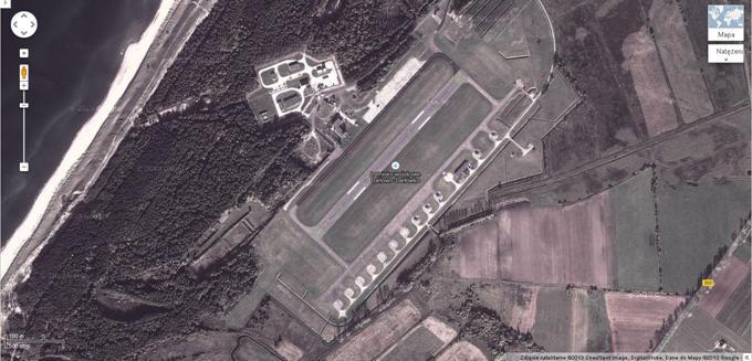 Lotnisko Darłowo 2013r. Zdjęcie Google Mapy