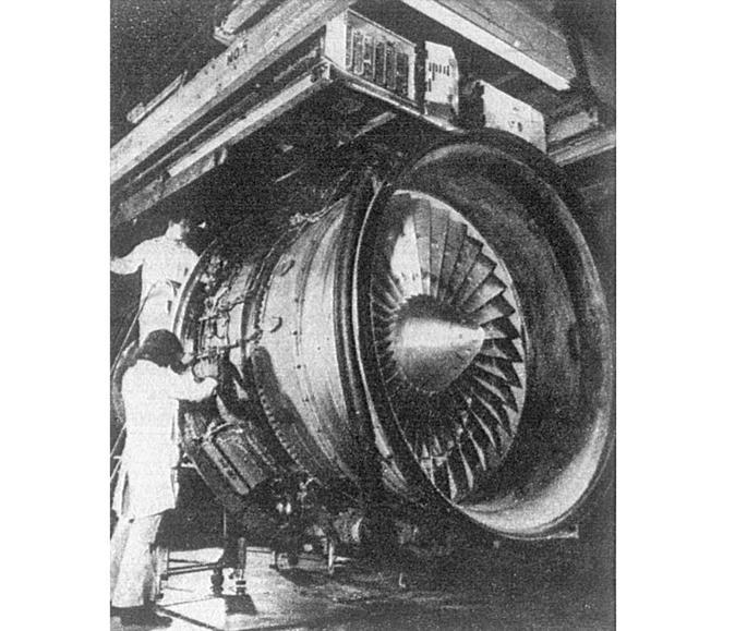 Turbowentylatorowy silnik Rolls-Royce RB.211. 1979 rok. Zdjęcie Rolls-Royce
