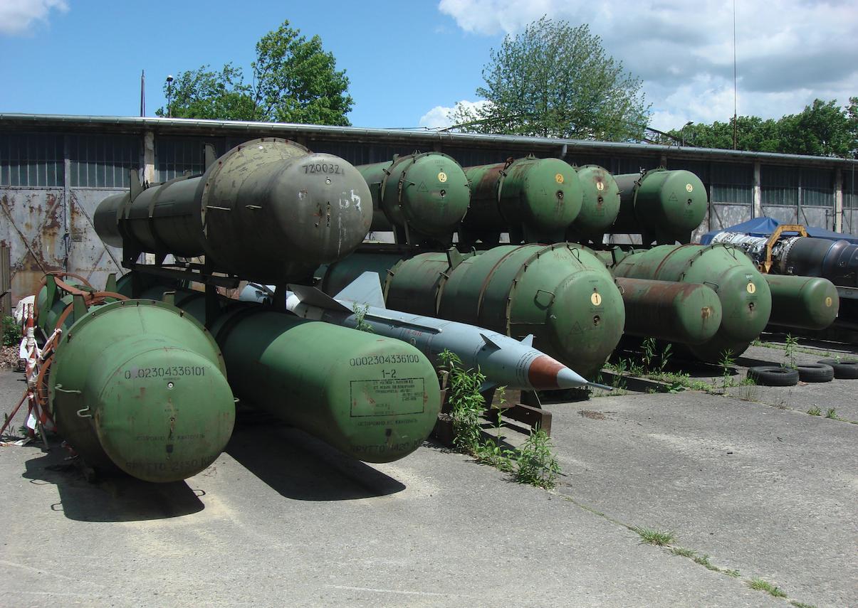 Pojemniki pocisków systemu S-75. 2015 rok. Zdjęcie Karol Placha Hetman