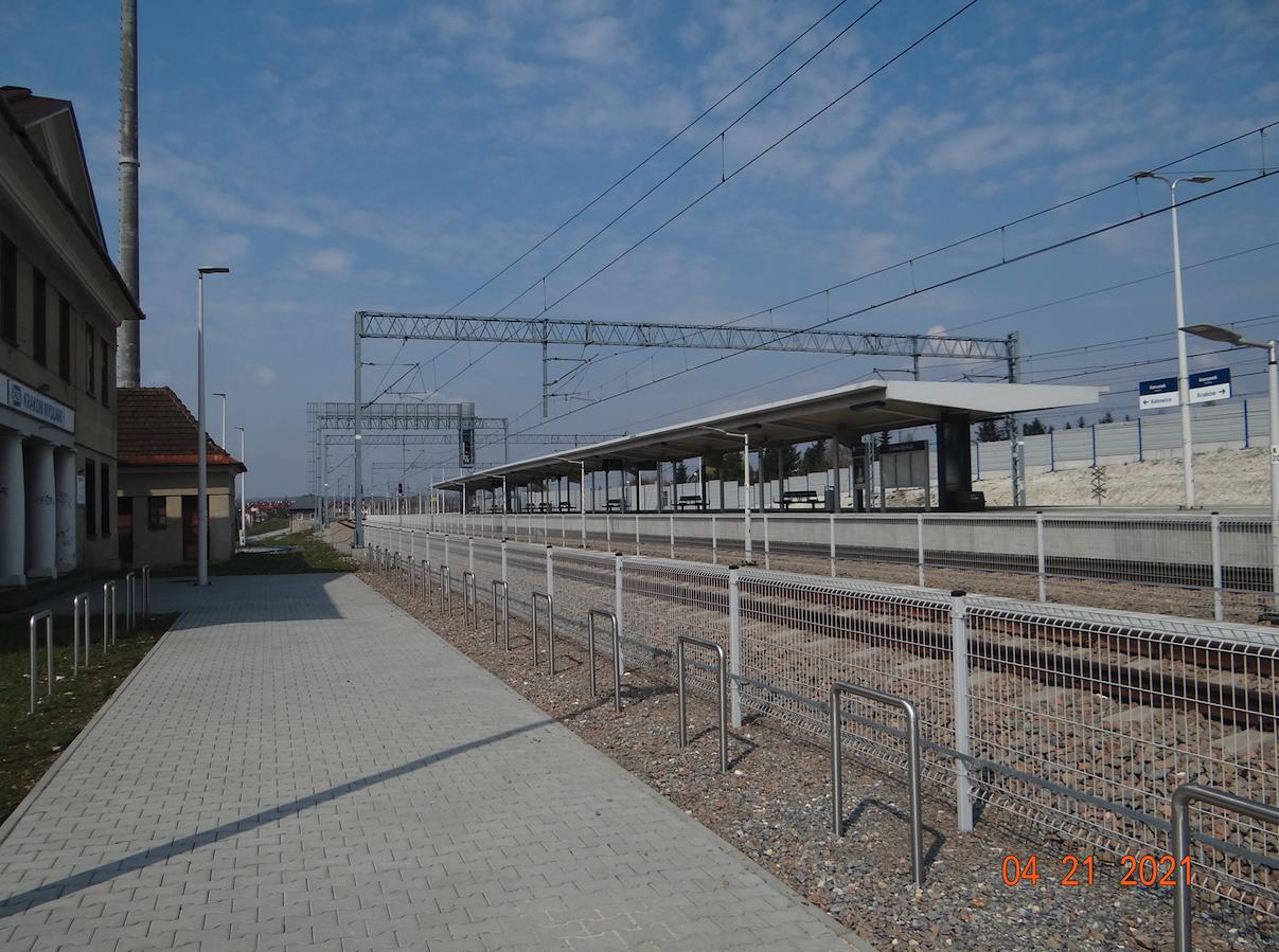 Kraków Mydlniki Peron 1. 2021 rok. Zdjęcie Karol Placha Hetman