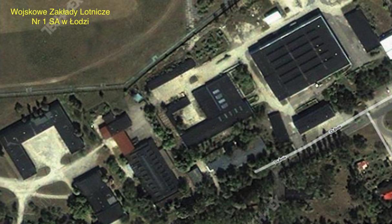 Zakłady WZL-1 w Łodzi. 2005 rok. Zdjęcie satelitarne