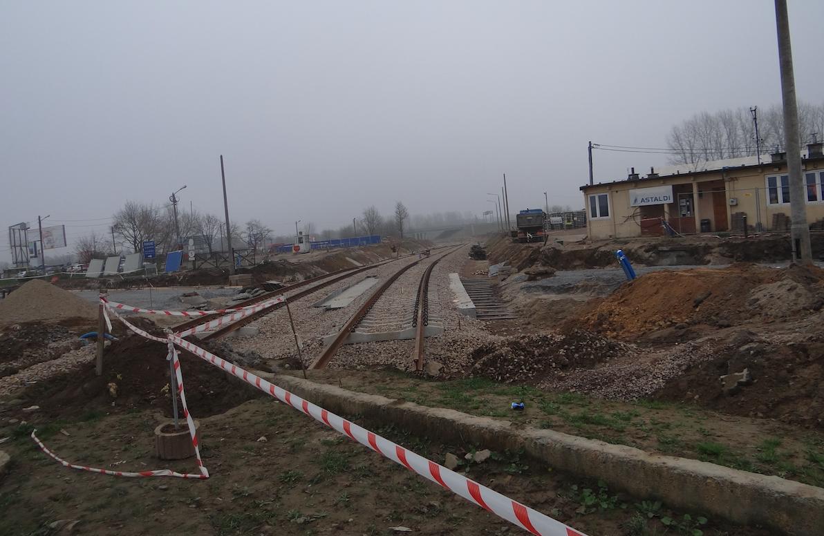 Nowe torowisko w rejonie Lotniska Balice. 2014 rok. Zdjęcie Karol Placha Hetman