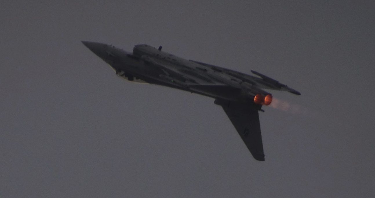 Eurofighter z silnikami na dopalaniu. Radom 2015 rok. Zdjęcie Karol Placha Hetman