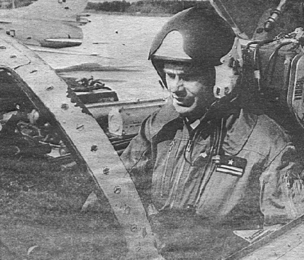 Major pilot Krzysztof Krzysztoforski. 1988 rok. Zdjęcie LAC
