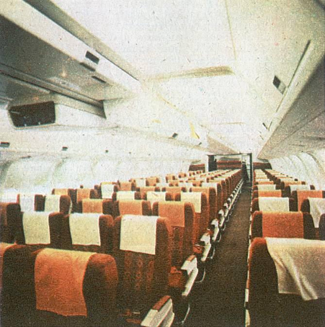 Kabina B-767-200 ER SP-LOA. 1989r.