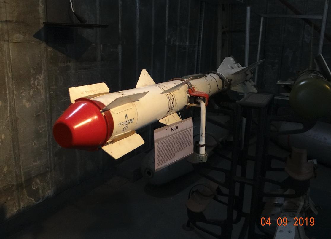 Pocisk rakietowy R-60. 2019 rok. Zdjęcie Karol Placha Hetman