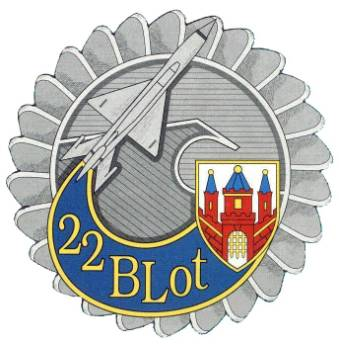 Godło 22 Bazy Lotniczej Lotnisko Malbork.