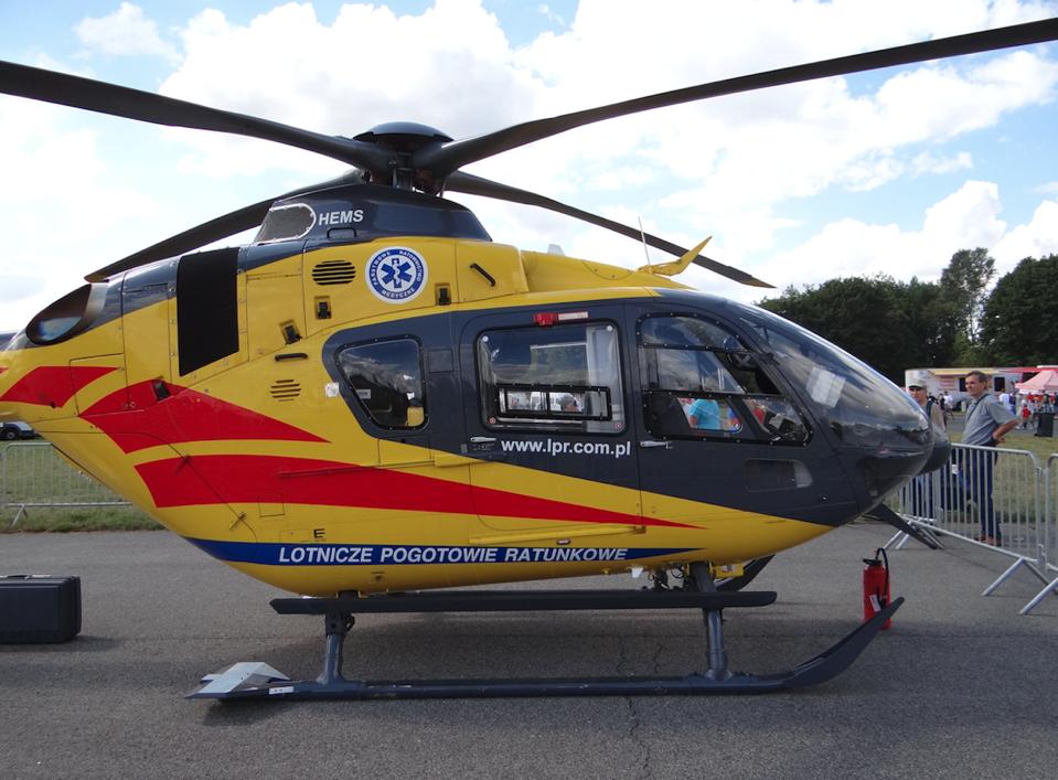 EC-135 SP-HXS 2013 rok. Zdjęcie Karol Placha Hetman