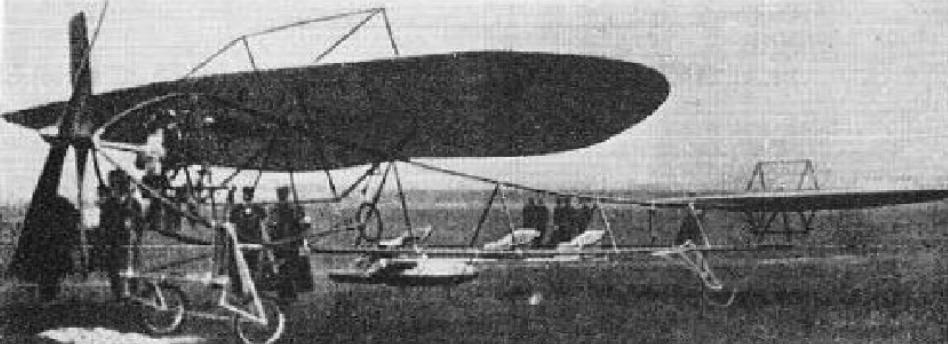 Aquila plane. 1910 year. Photo of LAC