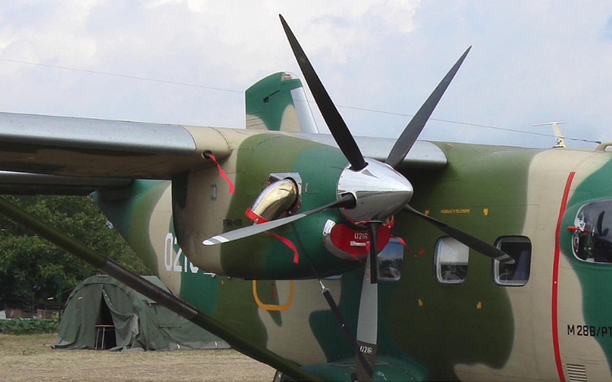 PZL M-28 B/PT Nb 0216 z silnikami Pratt & Whitney Canada PT6A-65B. 2007 rok. Zdjęcie Karol Placha Hetman