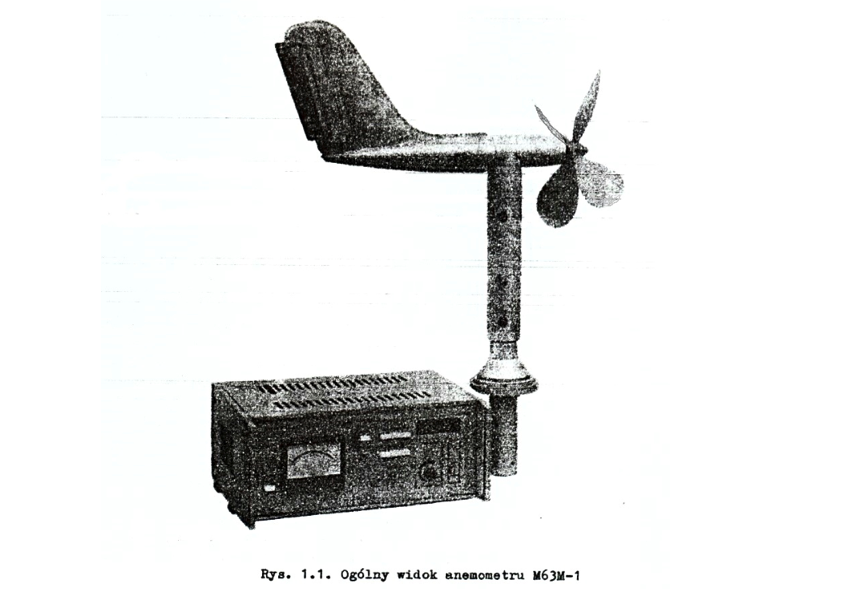 """Wiatromierz M-63M-1, fotografia z """"Anemometr M63M-1"""""""