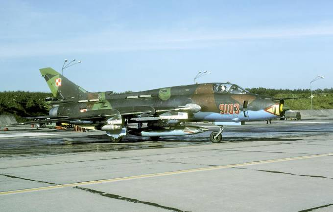 Su-22 nb 9103 na Lotnisku Świdwin. 2001r.