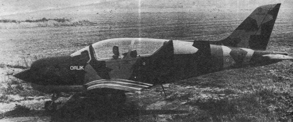 Mockup of the Orlik aircraft. 1983. Photo of LAC